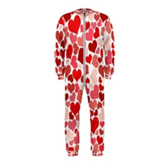 Abstract Background Decoration Hearts Love Onepiece Jumpsuit (kids)
