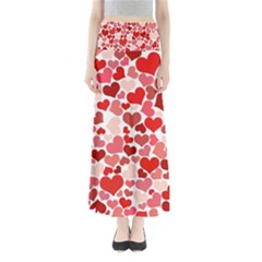 Abstract Background Decoration Hearts Love Full Length Maxi Skirt