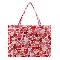 Abstract Background Decoration Hearts Love Medium Tote Bag