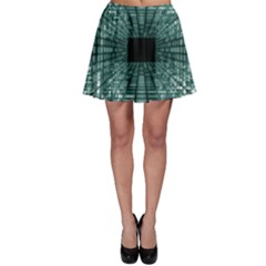 Abstract Perspective Background Skater Skirt