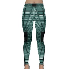 Abstract Perspective Background Classic Yoga Leggings
