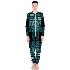 Abstract Perspective Background Onepiece Jumpsuit (ladies)