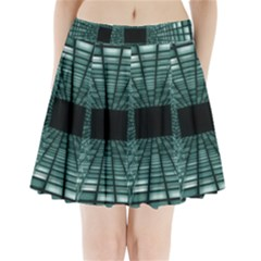 Abstract Perspective Background Pleated Mini Skirt