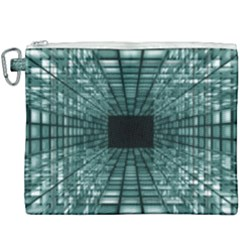 Abstract Perspective Background Canvas Cosmetic Bag (xxxl)