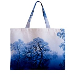 Nature Inspiration Trees Blue Zipper Mini Tote Bag