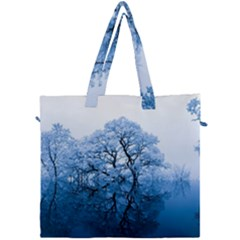 Nature Inspiration Trees Blue Canvas Travel Bag by Nexatart
