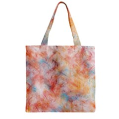 Wallpaper Design Abstract Zipper Grocery Tote Bag
