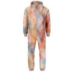 Wallpaper Design Abstract Hooded Jumpsuit (men)