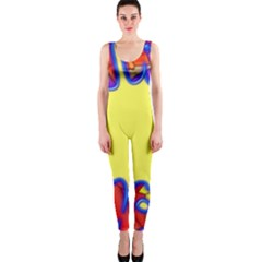 Embroidery Dab Color Spray One Piece Catsuit by Nexatart