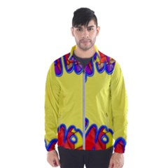Embroidery Dab Color Spray Windbreaker (men)