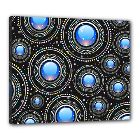 Background Abstract Glossy Blue Canvas 24  X 20