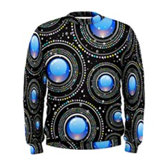 Background Abstract Glossy Blue Men s Sweatshirt