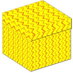 Yellow Background Abstract Storage Stool 12
