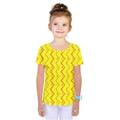 Yellow Background Abstract Kids  One Piece Tee