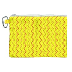 Yellow Background Abstract Canvas Cosmetic Bag (xl)