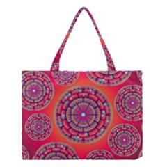 Floral Background Texture Pink Medium Tote Bag