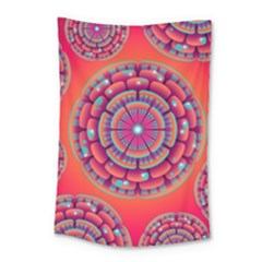 Floral Background Texture Pink Small Tapestry
