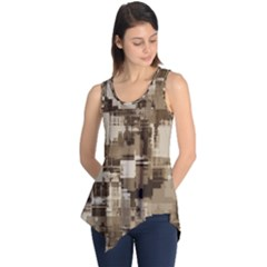 Color Abstract Background Textures Sleeveless Tunic