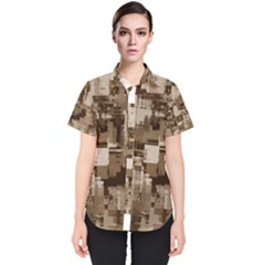 Color Abstract Background Textures Women s Short Sleeve Shirt