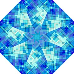 Abstract Squares Arrangement Straight Umbrellas