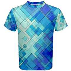 Abstract Squares Arrangement Men s Cotton Tee