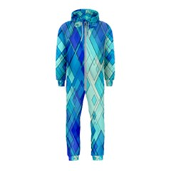 Abstract Squares Arrangement Hooded Jumpsuit (kids)