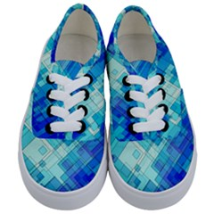 Abstract Squares Arrangement Kids  Classic Low Top Sneakers