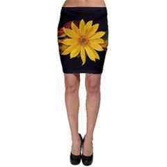 Sun Flower Blossom Bloom Particles Bodycon Skirt
