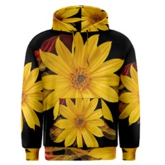 Sun Flower Blossom Bloom Particles Men s Pullover Hoodie
