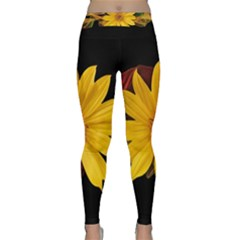 Sun Flower Blossom Bloom Particles Classic Yoga Leggings