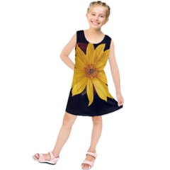 Sun Flower Blossom Bloom Particles Kids  Tunic Dress