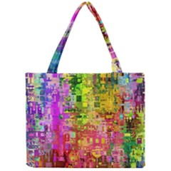 Color Abstract Artifact Pixel Mini Tote Bag
