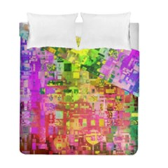 Color Abstract Artifact Pixel Duvet Cover Double Side (full/ Double Size) by Nexatart