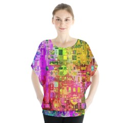 Color Abstract Artifact Pixel Blouse