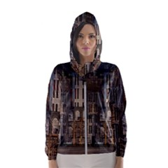 Architecture City Home Window Hooded Windbreaker (women)