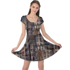 Architecture City Home Window Cap Sleeve Dress