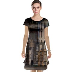 Architecture City Home Window Cap Sleeve Nightdress