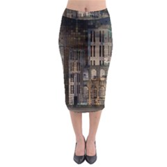 Architecture City Home Window Midi Pencil Skirt