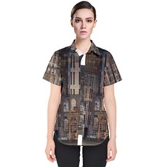 Architecture City Home Window Women s Short Sleeve Shirt
