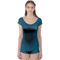 Background Spiral Abstract Pattern Boyleg Leotard