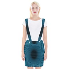 Background Spiral Abstract Pattern Braces Suspender Skirt