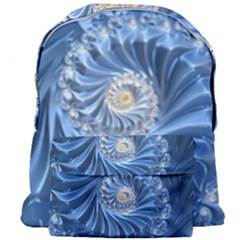 Blue Fractal Abstract Spiral Giant Full Print Backpack