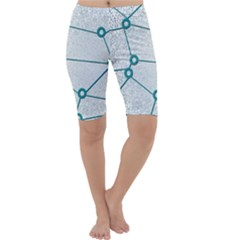 Network Social Abstract Cropped Leggings