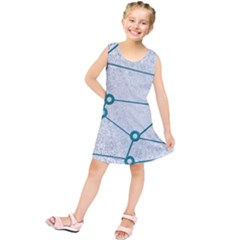 Network Social Abstract Kids  Tunic Dress