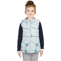 Network Social Abstract Kid s Hooded Puffer Vest