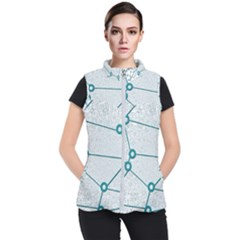 Network Social Abstract Women s Puffer Vest
