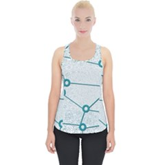 Network Social Abstract Piece Up Tank Top