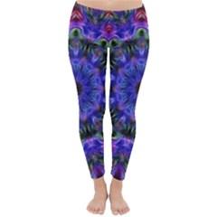 Purple Kaleidoscope102 Classic Winter Leggings