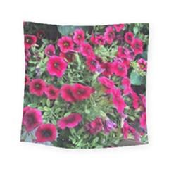 Pink Petunias Square Tapestry (small)