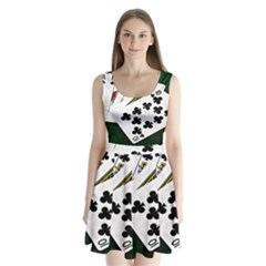 Poker Hands   Royal Flush Clubs Split Back Mini Dress